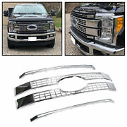 Fit 17-19 Ford F250 F350 F450 F550 Super Duty Chrome Platinum Style Grille Cover
