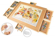 1500 Piece Wooden Jigsaw Puzzle Table - 6 Drawers 9 Glue Sheets And 3 Hangers | X