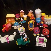 Vintage Lot Of 25 Mcdonalds Happy Meal Toys Collection Transformers 1987-1990