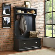 Hall Tree With Bench And Shoe Storage Hall Tree Coat Rack For Entryway Foyer