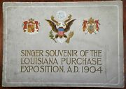 Story Of The Louisiana Purchase 1904 Singer Sewing Machines Promotional Album