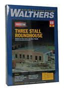 Walthers Cornerstone Ho Three-stall Roundhouse Kit 3041