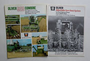 2 Different 1967 Oliver 525 Combine And 2 3 4 6 Row Corn Head Brochures