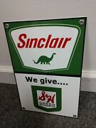 Sinclair Sandh Stamps Gas Oil Gasoline Retro Sign S And And H..free Ship On 10 Signs