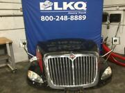 Red And Black 2012 International Prostar 113 Hood Assembly W/ Headlamps And Grille