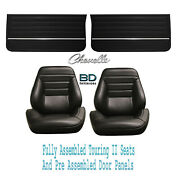 1965 Chevelle And El Camino Touring Ii Bucket Seats And Door Panels Pre Assembled