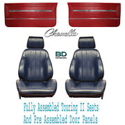 1966 Chevelle And El Camino Touring Ii Bucket Seats And Door Panels Pre Assembled