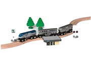 Amtrak Wooden Train P42 Superliner Set Compatible With Other Railroads And Signs