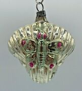 Antique German Mercury Glass Buterfly Feather Tree Christmas Ornament