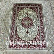 Yilong 2.7and039x4and039 Handknotted Silk Carpet Home Decoration Indoor Area Rug H207b