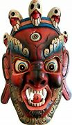 Qt S Bhairab Wooden Wall Hanging Décor 16 Buddhism Shiva Hand Crafted In Nepal