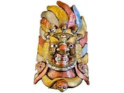 Qt S Bhairab Shiva Precious Wall Decor Wooden 28 Hand Carved Painted In Nepal