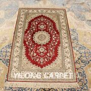 Yilong 2.5and039x4and039 Red Handknotted Silk Carpet Antistatic Home Decor Area Rug H012a