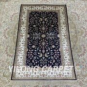 Yilong 2.5and039x4and039 Small Size Handknotted Silk Carpet Vintage Floor Area Rug H179b