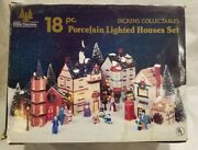 Vintage Holiday Expressions Dickens Collectables Set 18 Pc Lighted House Set
