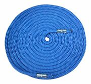 Boat Lines And Dock Ties - Premium Double Braided Nylon Boating Rope 1/2 Inch B...