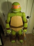 2014 Life Size 4ft Colossal Michelangelo Tmnt Action Figure W/ Nunchuck