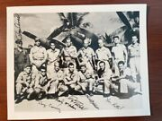 Yamamoto Mission Rare Signed Photo By 8 Amer. Army Airmen, Barber, Mitchell Etc