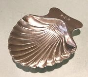 Vintage Antique Dated Monogrammed Sterling Silver Shell Plate Dish Old