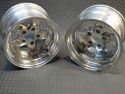 Pair 521-5161p Ultra 521 Octane 15x10 Polished Aluminum Wheels 4.75 Chevy/gm