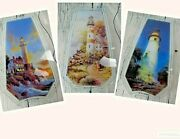 Lighthouse Themed Touch Lamp Replacement Glass Panels 3 To Chose From