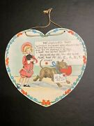 Vtg Raphael Tuck Valentine By R.f. Outcault W/ Buster Brown And Tige Signed