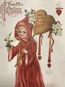 Vintage Rare Early Valentines Day Post Card 1912 Divided Back Rare Collectible