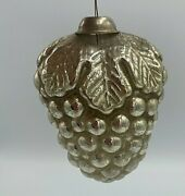 Antique German Mercury Glass 3 Grapes Feather Tree Christmas Ornament