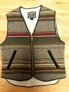 Usa Made Woolrich Vintage Indian Blanket Wool Vest Small Womens