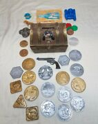 Toy Pirate Treasure Chest W/ Coins And Premiums Cap'n Crunch Vintage Cereal Lot