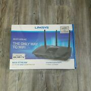 Linksys Max-stream Ac1750 Mu-mimo Gigabit Wifi Router Ideal For 4k Tear In Seal