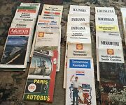 Vintage Roadmaps States And Cities 1960andrsquo/1980andrsquos 53 Of Them