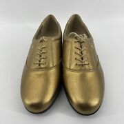 Easy Spirit Anti-gravity Womens Shoes Size 10 2e Gold/bronze Leather Upper