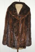 Vintage 60and039s 70and039s Evans Furs Crowleys Luxurious Mink Jacket - L To Xl