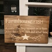 Farmhouse-ish Rustic Style Sign - 18 X 12 Choose Color - Free Shipping
