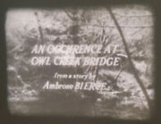An Occurence At Owl Creek Bridge Super 8 Sound Black And White Short Film Rare
