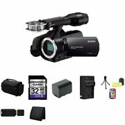 Sony Nex-vg30 Handycam Interchangable Lens Camcorder Body Black + 32gb Sdhc...