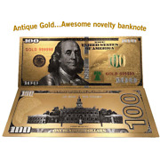 Antique Gold Banknotes Notes Reserve Currency Money Coins Mint No Paper Federal
