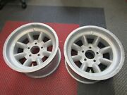 Vintage Minilite Magnesium Wheels 15and039and039 Gm Bolt Pattern Pair