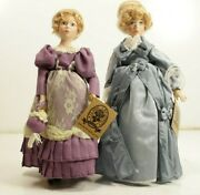 2- Classic Creations Porcelain Dolls Bianca 111476a And Catherine 111476b