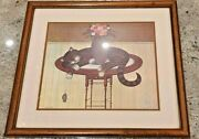 Matted Art Print Charles Wysocki - Herkymer The Cat Awesome Gift Artwork 18x16