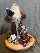 Victorian Santa Face And Head Hand Carved No Two Alike Handmade Clothing