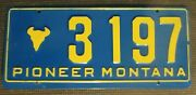 1976 Montana Pioneer Skull License Plate 3197 - Minty Tag - Great Colors ...