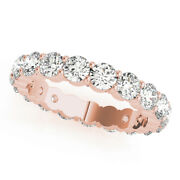 3.40 Ct Real Diamond Wedding Engagement Ring 18k Solid Rose Gold Band Size 6 7 8