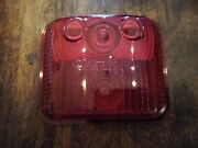Bmac 759/2e - Red Rear Light / Lamp Lens - Old Commercial / Lorry / Coach / Bus