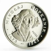 Poland 100 Zlotych Nicolaus Copernicus The Famous Astronomer Silver Coin 1973