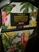 Supreme X Schott Leather A2 Bomber Jacket - Xl - New With Tags