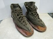 Vintage 1940s Ww2 French Military Ice Snow Over Boots Shoes Cleats France