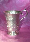 Rare Antique Sterling Silver Walker And Hall Coffee Cup Mug Tankard 1903 Unusual
