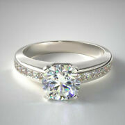 Real 0.98 Ct Diamond Wedding Band Solid 18k White Gold Solitaire Ring Size 5 7 8